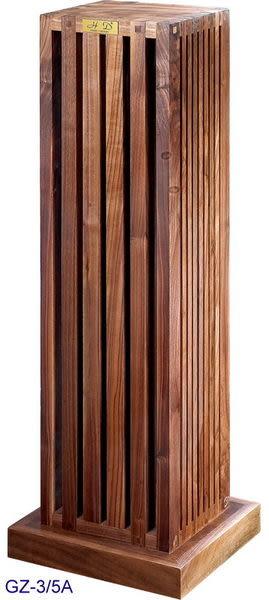義大利精品 Homely Design 胡桃原木材質,純手工製造 GZ-3/5A 喇叭架一對