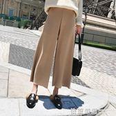 寬管褲子女款新款韓版百搭寬鬆高腰直筒西裝褲九分休閒褲  依夏嚴選
