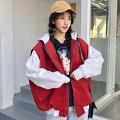 連帽衛衣女秋冬裝韓版寬鬆原宿BF風學生開衫帶帽加絨加厚ins外套 草莓妞妞