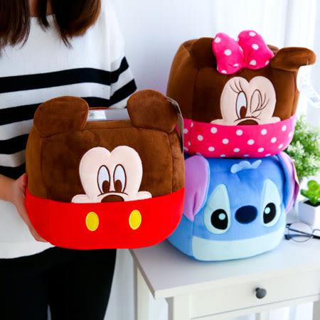 正版迪士尼臉型置物桶 收納筒 置物盒 收納盒 米奇 米妮 史迪奇