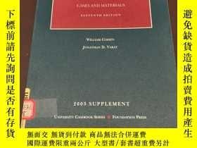 二手書博民逛書店2003罕見supplement cases and mater