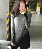 雙十二狂歡 健身女孩顯瘦條紋速干運動上衣2018新款長袖跑步高彈瑜伽T恤秋冬 艾尚旗艦店