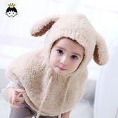 嬰兒帽韓國女寶寶帽子秋冬季嬰兒童保暖帽男童毛線針織護耳帽冬天圍脖潮