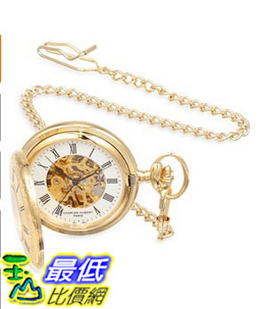 [美國直購] 手錶 Charles-Hubert, Paris Gold-Plated Mechanical Pocket Watch