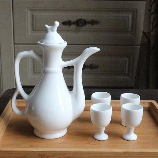 熱酒壺燙酒老式懷舊小酒盅套裝復古中式古代酒杯宮廷仿古古風酒具 「夢幻小鎮」