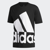 Adidas 男款黑色大LOGO短袖上衣-NO.GK3325