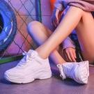 厚底鞋白色運動鞋女新款韓版ulzzang原宿百搭厚底老爹鞋 衣間迷你屋 交換禮物
