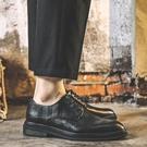 皮鞋 夏季透氣薄款商務正裝英倫風黑色配西裝休閒皮鞋男真皮結婚新郎鞋