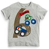 可愛貼布短袖上衣 數字6   橘魔法Baby magic 現貨 男童 中童 童裝