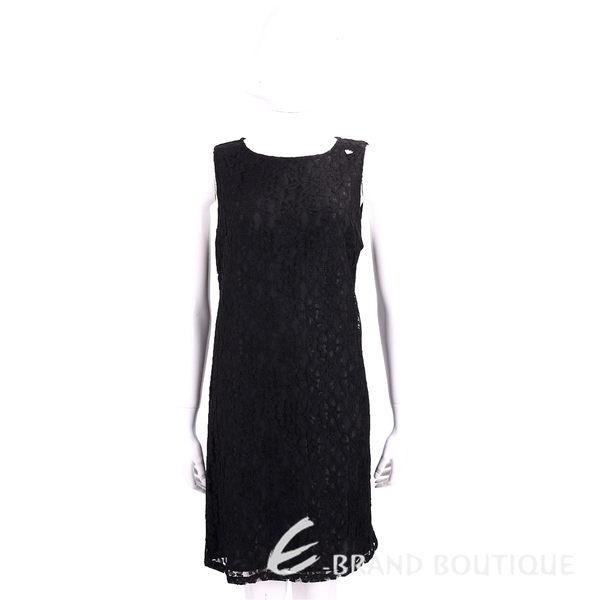 BLUGIRL-FOLIES 黑色蕾絲雕花無袖洋裝 1720345-01