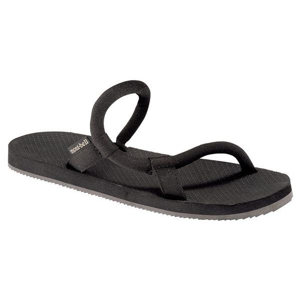 日本mont-bell SOCK-ON SANDALS 日系涼鞋/休閒涼鞋/拖鞋/男女通用 1129476 BK 黑