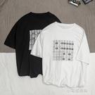 男士短袖夏季印花T恤韓版潮流寬鬆百搭休閒【全館免運】