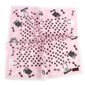 CLATHAS 愛心手提包印花純綿帕巾(粉紅色)989265-4
