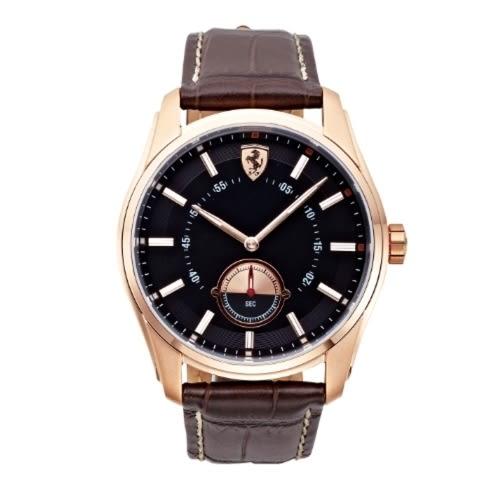 FERRARI 速度時尚計時腕錶/玫瑰金/0830233