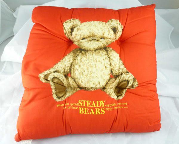 【震撼精品百貨】日本泰迪熊_STEADY BEARS~方形靠枕/坐墊『藍格&紅格&紅&藍』(共四款)