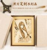 抖音熱門走心的創意生日禮物送女生男生閨蜜友情照片訂製木刻畫igo  琉璃美衣