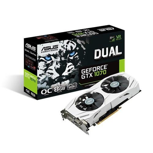 AMD R5 2600+華碩 PRIME B450M-A+華碩 DUAL-RTX1070-O8G【刷卡含稅價】