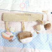 嘟嘟貞貞新生嬰兒毛絨布藝床鈴寶寶音樂旋轉兒童床鈴玩具床掛搖鈴 雙十一87折