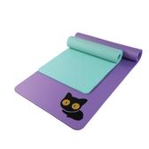 峰燕兒童墊瑜伽墊子初學者女健身墊可愛加厚加寬加長防滑貓瑜珈墊☌zakka