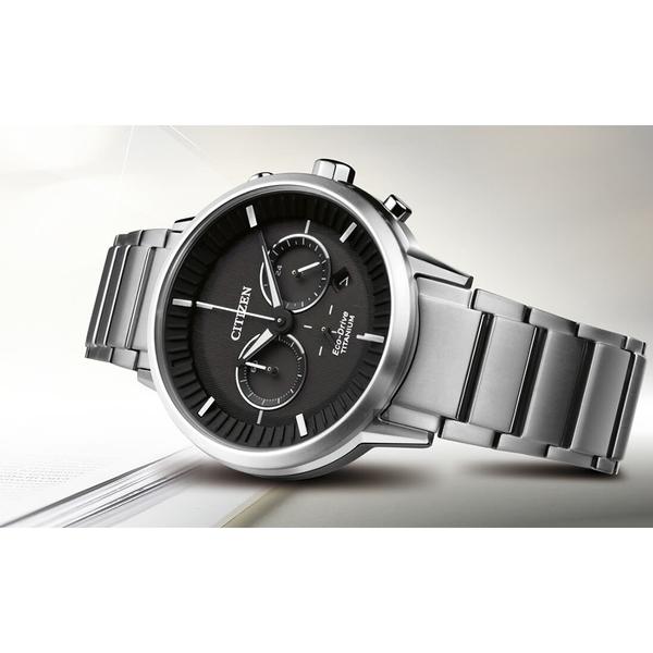 CITIZEN 星辰 光動能超級鈦簡約計時手錶-黑x銀/41mm CA4400-88E