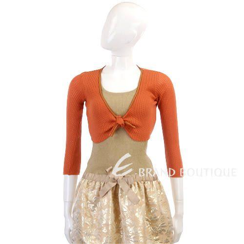 Kristina Ti 橘色滾邊設計小外套 0820056-17