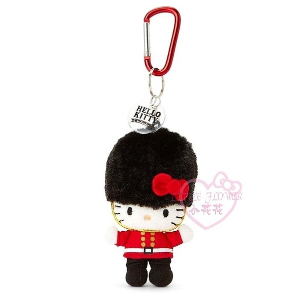 小花花日本精品♥Hello kitty凱蒂貓士兵站姿造型玩偶布偶別針吊飾吊偶限定送人禮物必備56883305