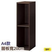【DIY】22cm彩色櫃 COLOBO SLIM A4-雙層櫃 DBR NITORI宜得利家居
