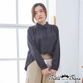 【Tiara Tiara】百貨同步ss  雅緻大方格織線長袖上衣(深灰)