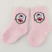 【愛的世界】皇冠小熊止滑透氣襪/毛巾襪/9~17CM-台灣製- ---童鞋童襪
