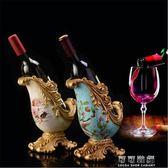 歐式紅酒架客廳酒櫃玄關屏風擺件軟裝飾品高檔創意復古酒瓶架子igo 可可鞋櫃