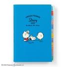 小禮堂 史努比 日製 2021 B6標籤行事曆 手帳 年曆 記事本 (淡藍 露西) 4550337-57530