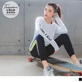 《KS0771》台灣製造.網紗拼接數位印花文字袖套運動上衣 OrangeBear