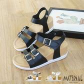 涼鞋 小雙側扣飾楔型涼鞋 MA女鞋 T9531