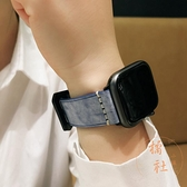 適用apple watch錶帶蘋果手表iwatch表帶復古朋克漸變色【橘社小鎮】