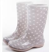 中筒雨靴-新品防水自信防滑女雨鞋4色5s58[時尚巴黎]