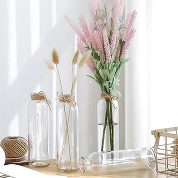 【BlueCat】圓形方形泡茶透明玻璃瓶 花瓶 落地花瓶 花器 花盆 水培容器 插花 乾花 空瓶