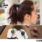 《ZB0597》韓國製.純色大珠珠髮圈 OrangeBear