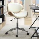 電競椅 歐式簡約實木質辦公椅曲木電腦椅升降旋轉靠背設計師椅休閒職員椅 MKS韓菲兒