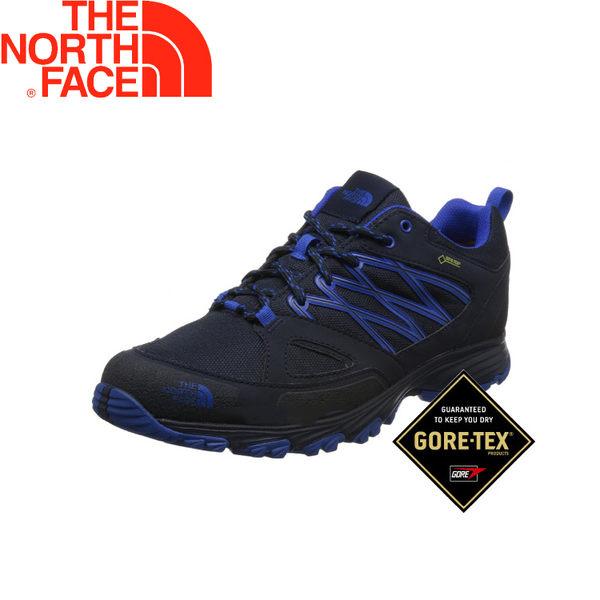 【The North Face 男款 GTX 低筒健行鞋《深藍》】V1SB/抗菌防水透氣/登山健行鞋/抓地輕型鞋★滿額送