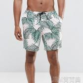 男士四分內襯款沙灘褲 大碼速干海邊漂流游泳褲男 溫泉褲 簡而美