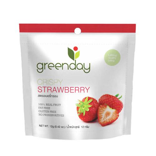 Greenday草莓凍乾12g 日華好物