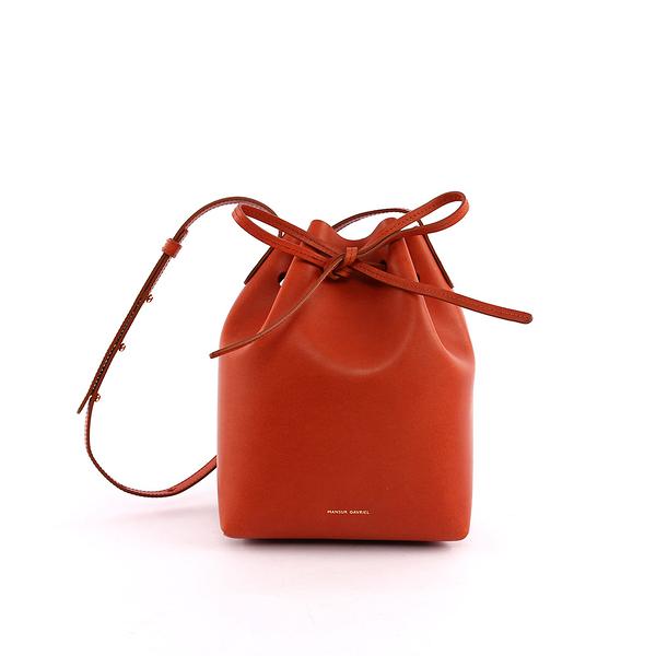 【MANSUR GAVRIEL】水桶包MINI BUCKET(小款)(磚紅色) HMB004VC BRANDY/BRIC