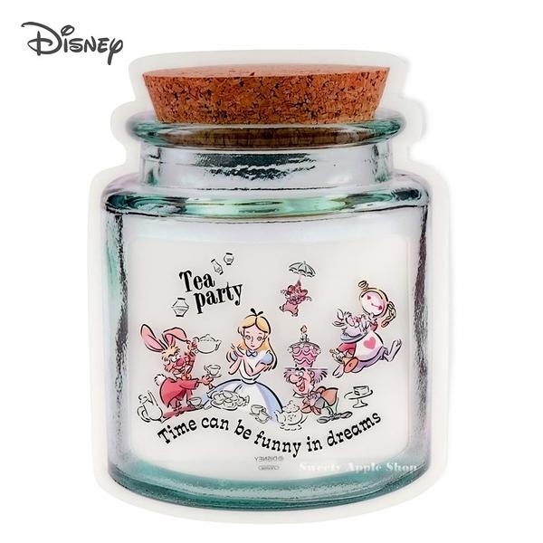 日本限定 迪士尼  愛麗絲家族 Tea Party 糖罐造型 夾鏈袋 /食品收納夾鏈袋 4入袋組