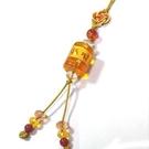 黃水晶六字真言大明咒與紅瑪瑙珠吊飾...