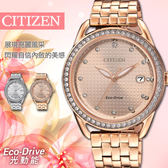 【公司貨5年延長保固】CITIZEN 星辰 Eco-Drive 閃耀奢華光動能時尚女錶 FE6119-85X