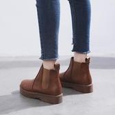 馬丁靴女英倫風秋冬新款學生韓版百搭靴子平底舒適機車短靴Mandyc