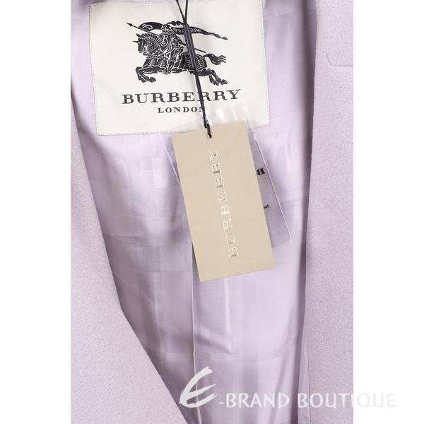BURBERRY 粉紫色雙口袋羊毛大衣(附腰帶) 1540826-47