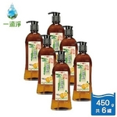 一滴淨蘆薈多酚洗碗精-柑橘精油450g-六件組