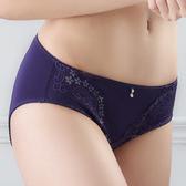 EASY SHOP-花氛宣言 中腰三角褲(迷蝶紫)