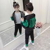 女童牛仔套裝秋裝2018新款韓版中大兒童裝女孩洋氣時髦兩件套潮衣